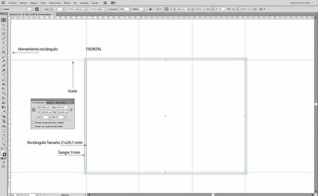 como hacer tripticos con illustrator