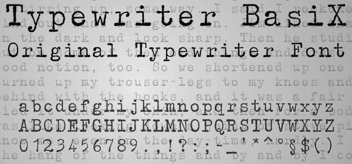 tipografia Typewriter